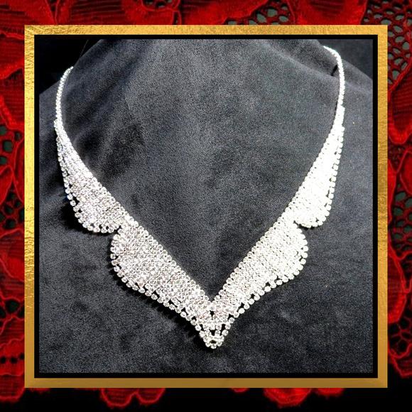 Jewelry - New Tuxedo Coat Style Rhinestone Necklace  #702